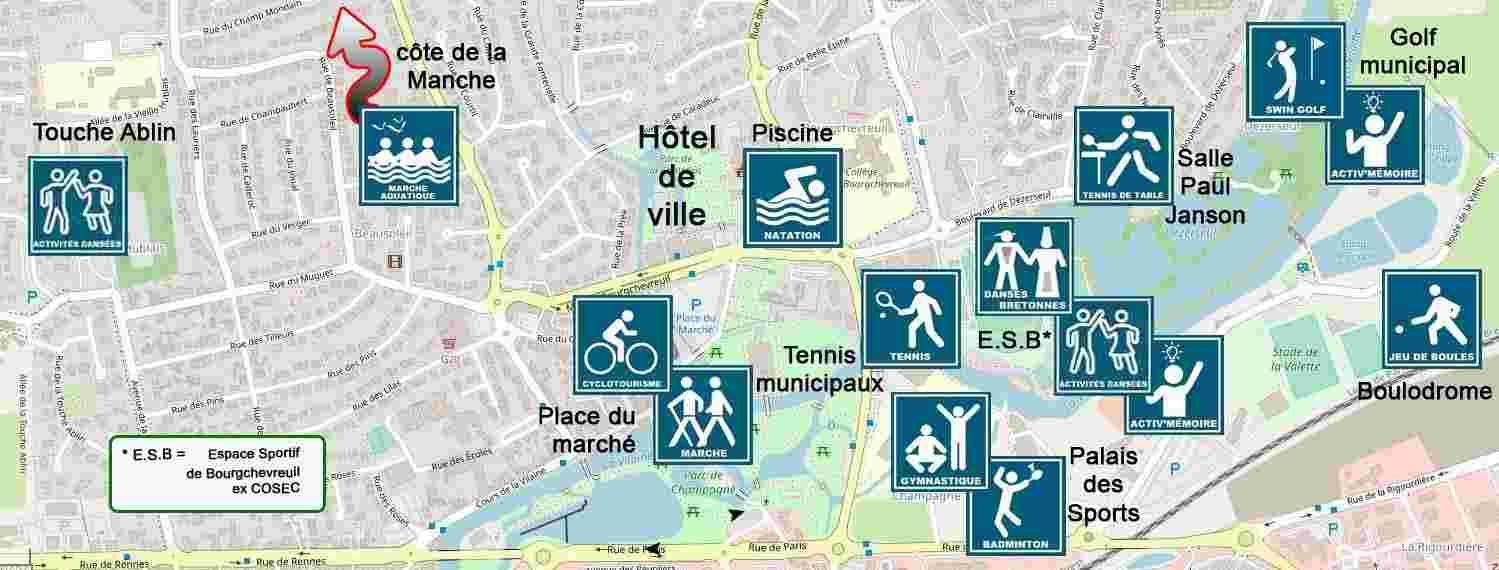 Plan salles de sport